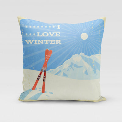 I Love Winter Pillow Cover- The Foxtrot Clothing - The Foxtrot Clothing