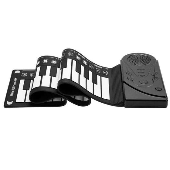 Portable Flexible Digital Keyboard Piano 37/49 Keys Flexible Silicone Electronic Roll Up Piano Children Toys Built-in Speaker - The Foxtrot Clothing
