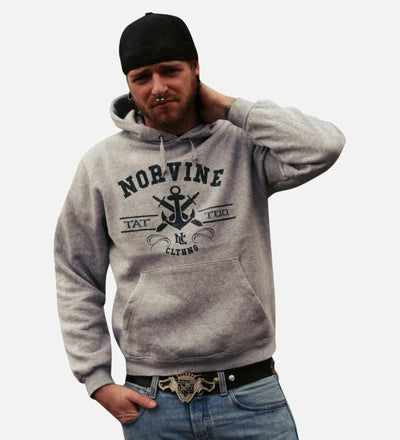 Tattoo Anchor Hoodie - The Foxtrot Clothing