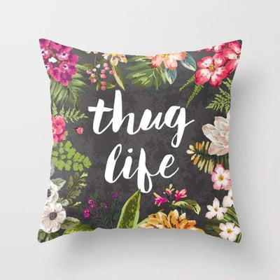 Thug Life Pillow - The Foxtrot Clothing
