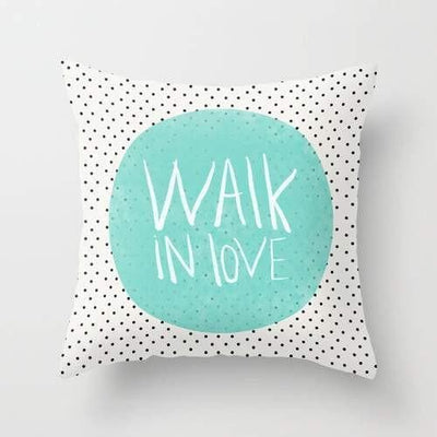 Walk in love polka dots Cushion/Pillow- The Foxtrot Clothing - The Foxtrot Clothing