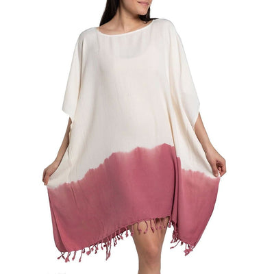 Rose Dip Dye Turkish Tunic - The Foxtrot Clothing