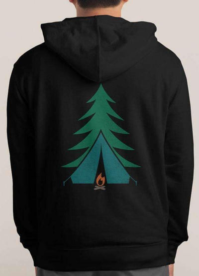CAMPING PRINTED HOODIE - The Foxtrot Clothing