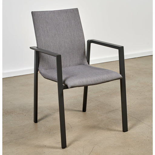 BRONTE PADDED CHAIR - CHARCOAL/GREY