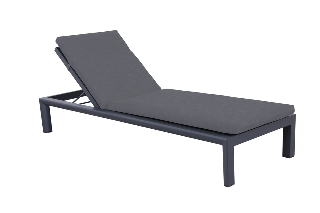 DUNE SUNLOUNGE W/CUSHION GUNMETAL