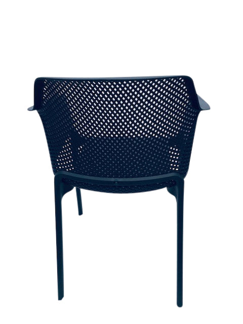 BAILEY DINING CHAIR RESIN CHARCOAL