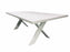 SWITCH CEMENT DINING TABLE WITH MATT WHITE CRISS CROSS LEG SET