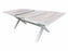 MEMPHIS EXTENSION TABLE - WHITE/WOODLOOK CERAMIC