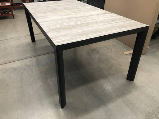 MEMPHIS TABLE - 180 X 100 CHARCOAL/CONCRETE LOOK CERAMIC