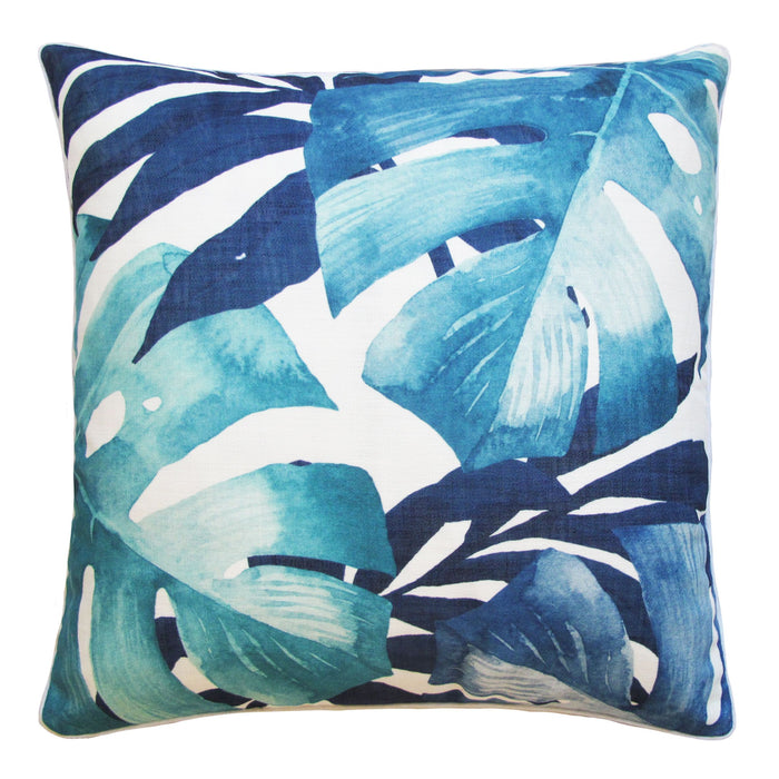 CABANA LEAVES OUTDOOR CUSHION 50 X 50 NAVY