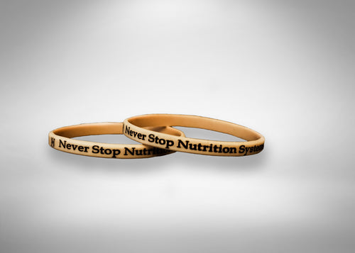 Never Stop Wrist Bands - Never Stop Nutrition Systems