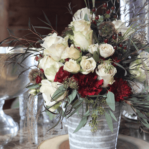 Geneseo Florist Designs on the Boulevard Floral Arrangement in Tin
