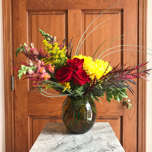 Artistic Fall Centerpiece