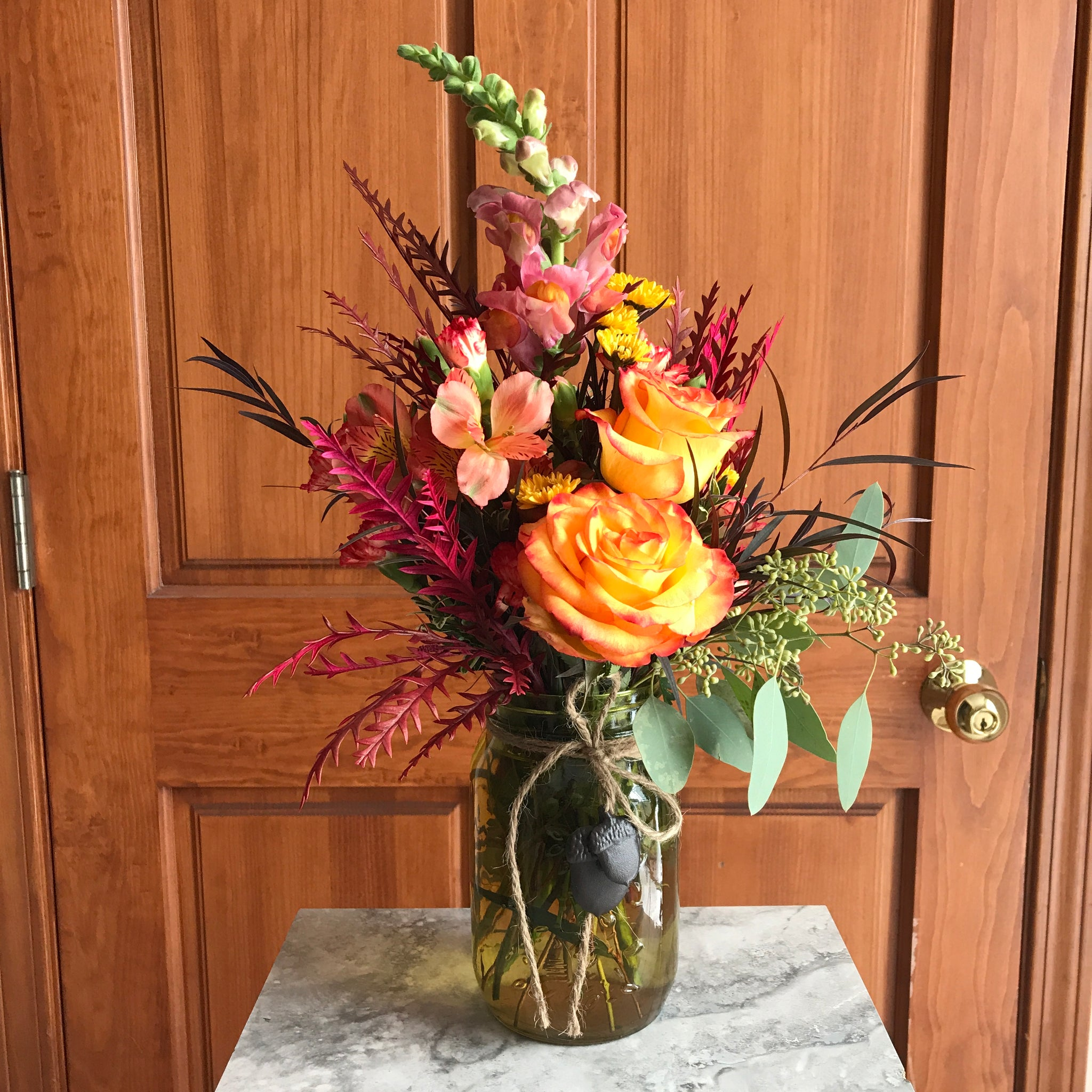 Vased Fall Centerpiece