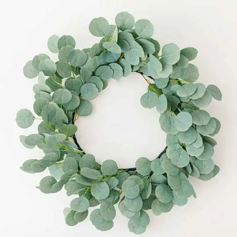 Faux Silver Dollar Eucalyptus Wreath