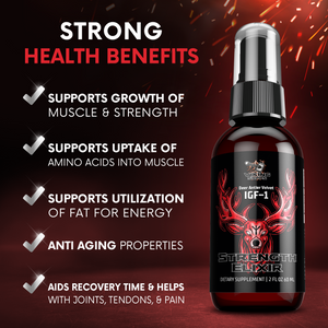 Strength Elixir Deer Antler Velvet IGF-1 Spray