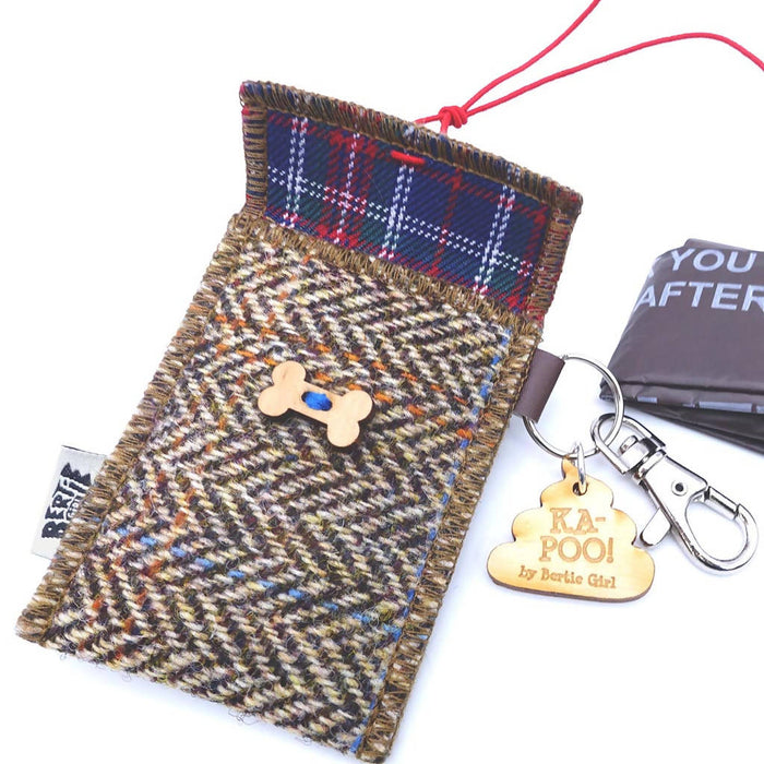 Ka-Poo - Harris tweed doggie bag dispenser