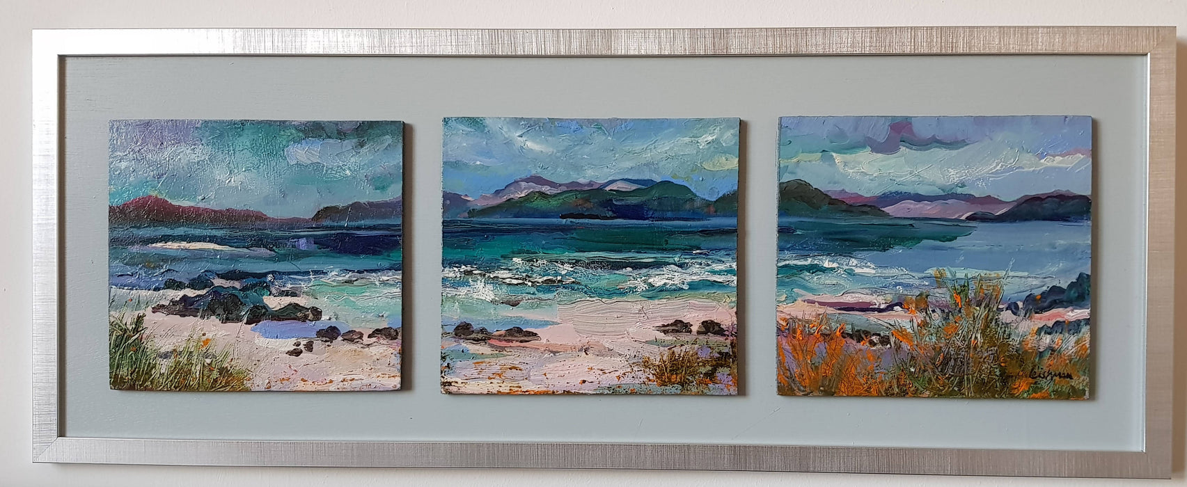 Mull from Traigh Ban, Island of Iona' original painting