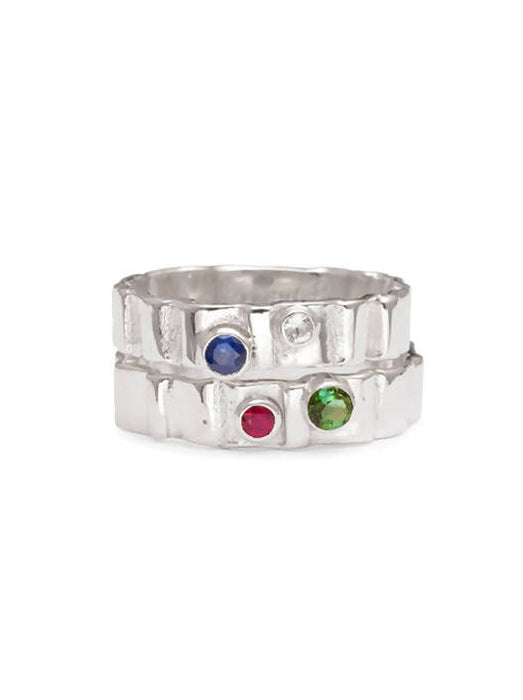 Spring Tides Ring with Gemstones
