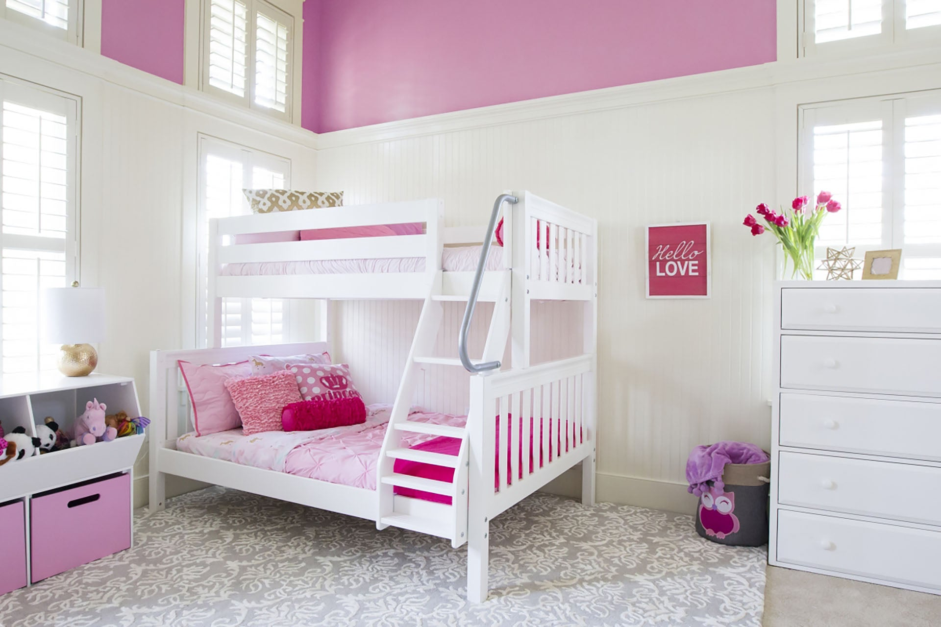 Slat Style Twin/Full Bunk Bed (with ladder)