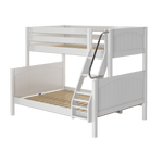 Load image into Gallery viewer, Panel Style Twin/Full Bunk Bed (with ladder)