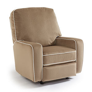 The Brixy Glider Recliner's squared corners and straight lines lend itself to be either contemporary or transitional and can coexist with any of your furniture.