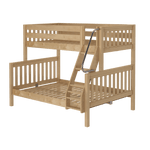 Load image into Gallery viewer, Slat Style Twin/Full Bunk Bed (with ladder)