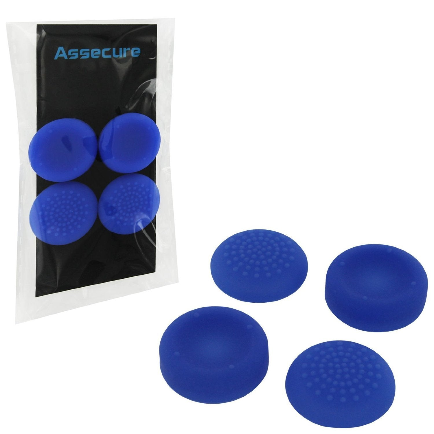 PS4 Silicone Thumb Grips: Concave & Convex - Blue - PS4