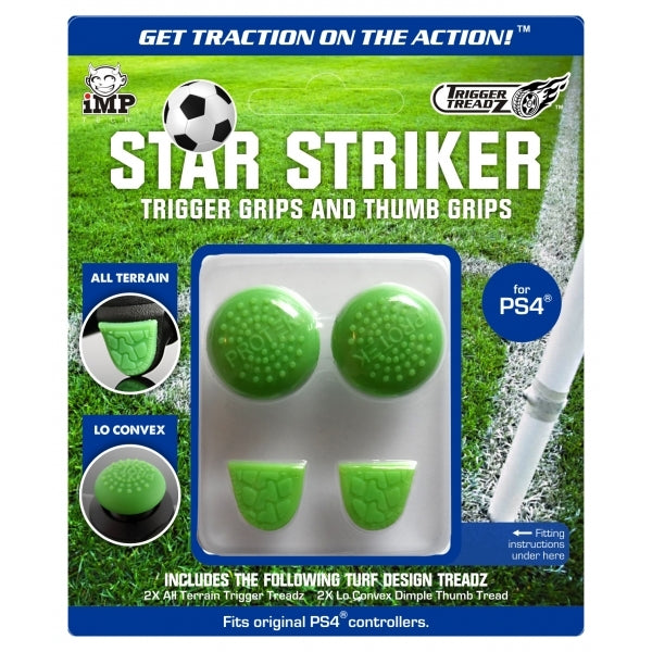 iMP Star Striker Trigger & Thumb Grips (Green) - PS4