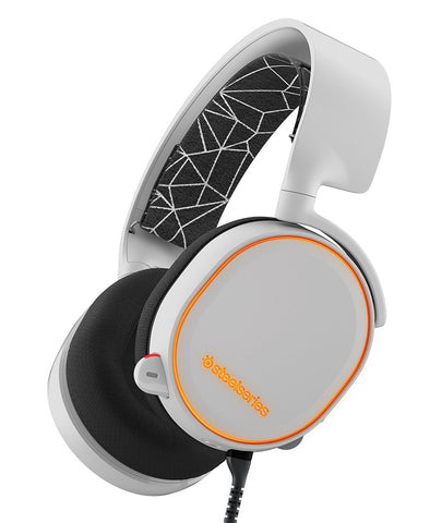 SteelSeries Arctis 5 Wired Gaming Headset (White) - PC Games