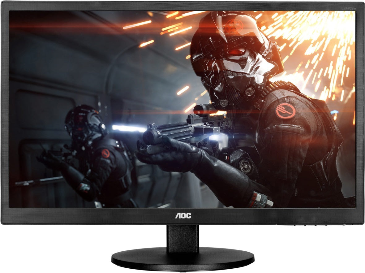 "23.6"" AOC 1080p 60Hz 1ms Ultra Fast Entry Level Gaming Monitor"