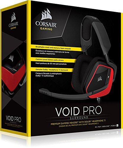 Corsair Void PRO Gaming Headset (Red) - PC Games
