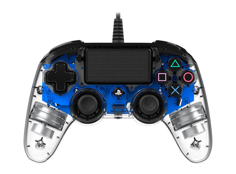 Nacon PS4 Illuminated Wired Gaming Controller - Light Blue - PS4