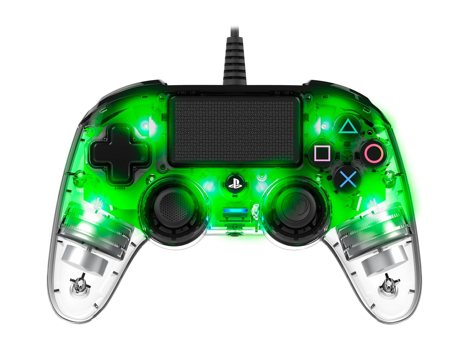 Nacon PS4 Illuminated Wired Gaming Controller - Light Green - PS4