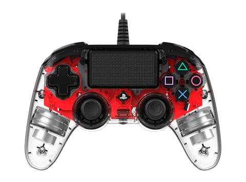 Nacon PS4 Illuminated Wired Gaming Controller - Light Red - PS4