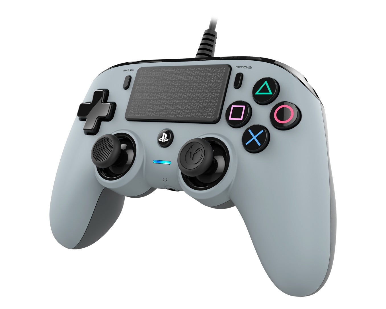 Nacon PS4 Wired Gaming Controller - Grey - PS4