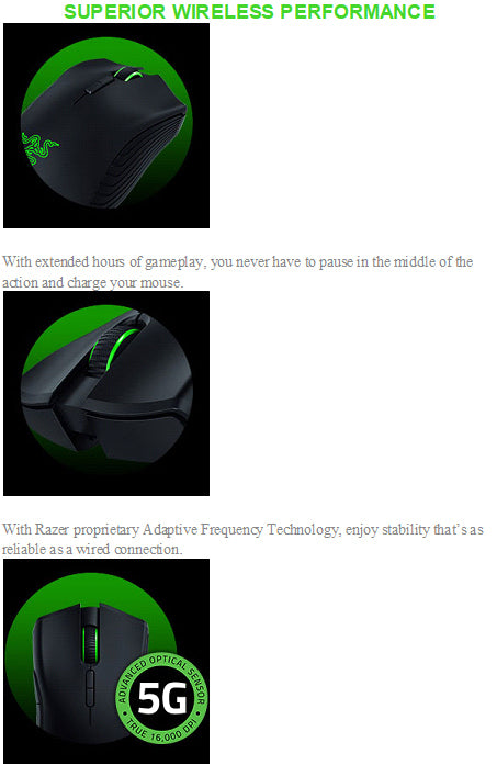 Razer Mamba Wireless Gaming Mouse - PC Games