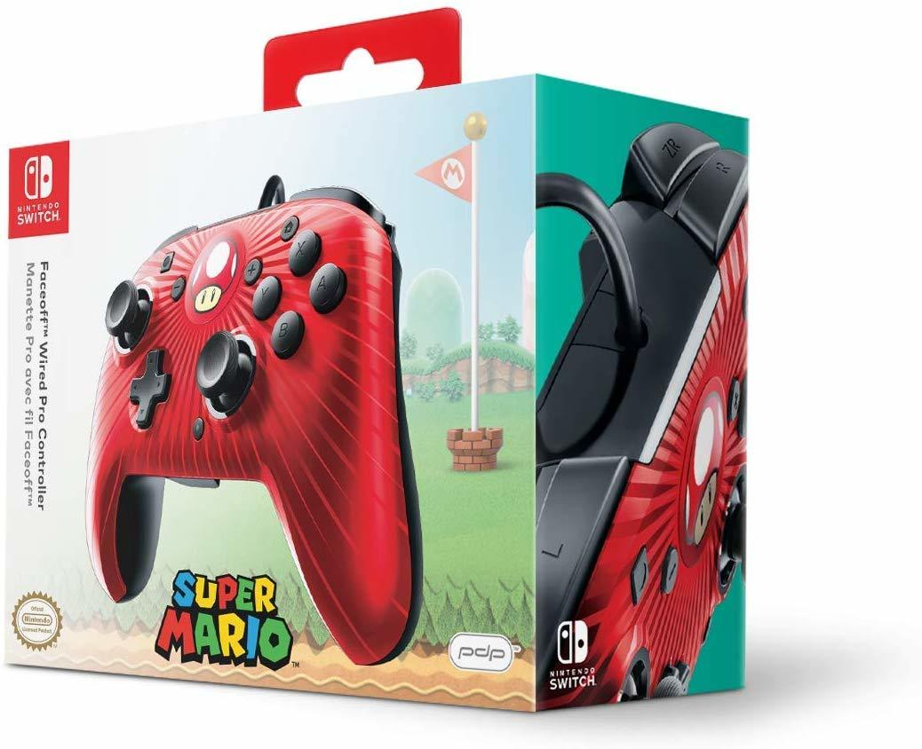 PDP Faceoff Wired Pro Controller for Switch - Super Mario - Nintendo Switch