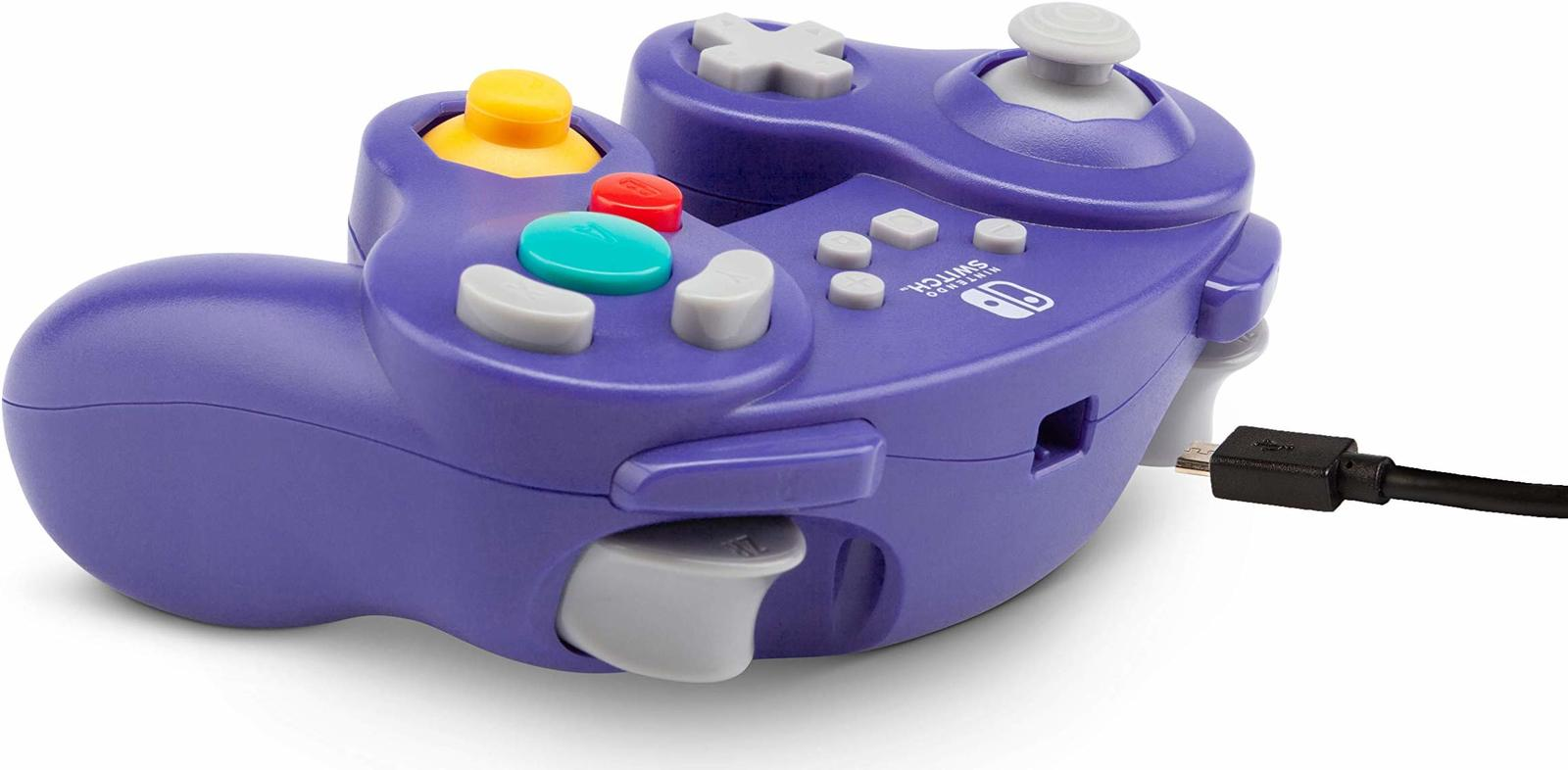 Nintendo Switch Wired GameCube Controller - Purple - Nintendo Switch