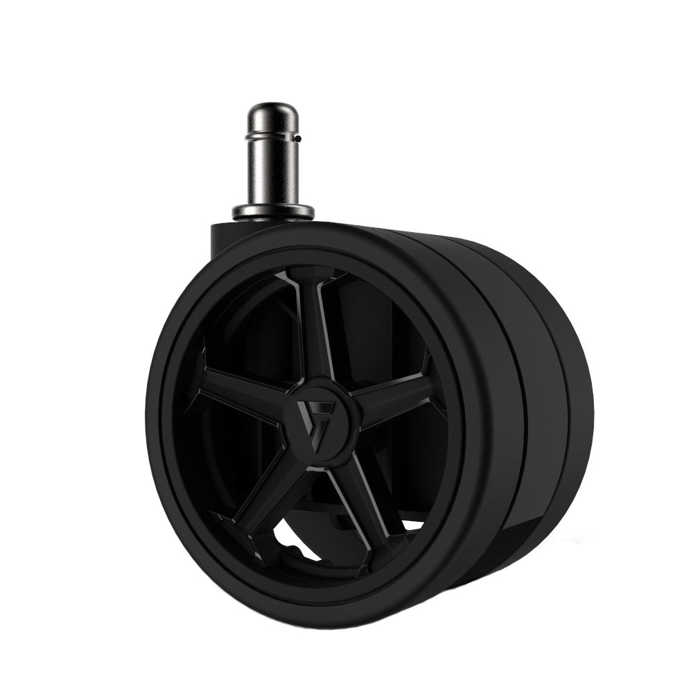 "Vertagear Racing Series 65mm/2.5"" Caster AutoBrake Black Edition - 1 set (5 casters)"