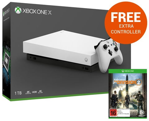 Xbox One X 1TB Tom Clancy's The Division 2 Console Bundle - White - Xbox One