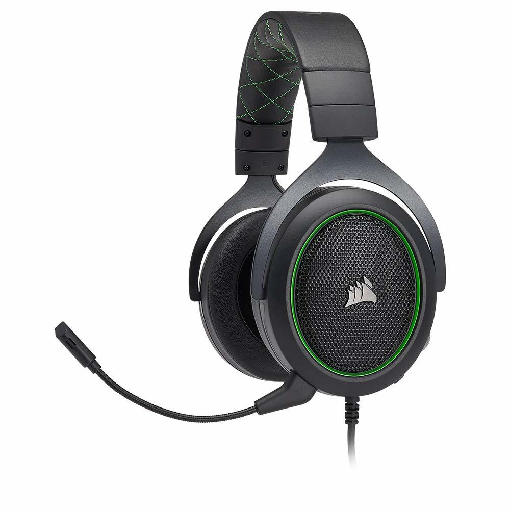 Corsair HS50 Stereo Gaming Headset (Green) - PC Games