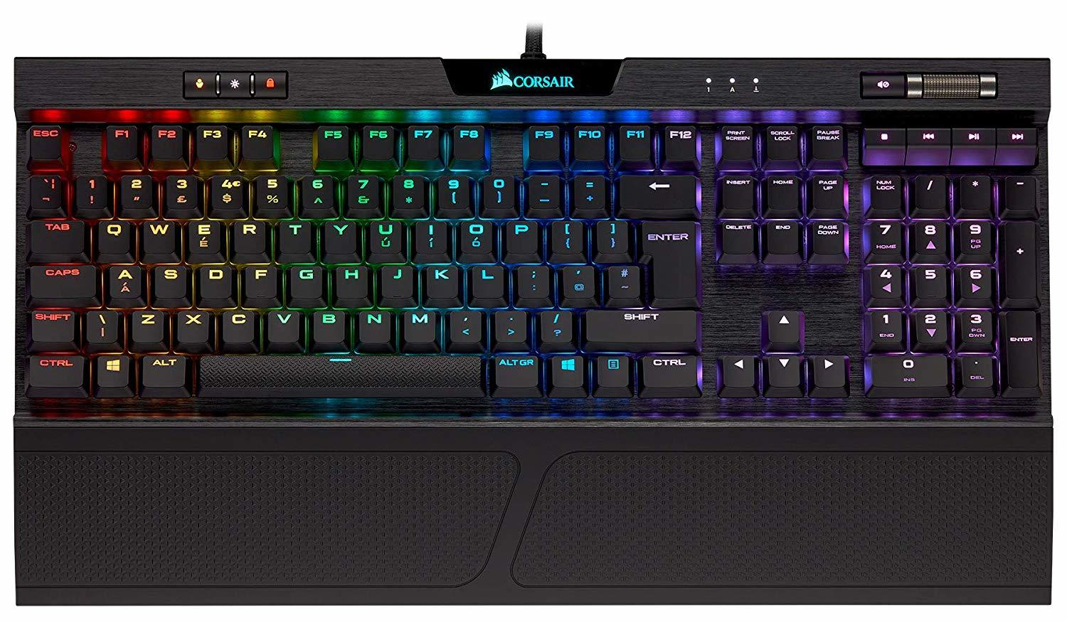 Corsair K70 RGB MK.2 Low Profile Mechanical Gaming Keyboard (Cherry MX Speed) - PC Games