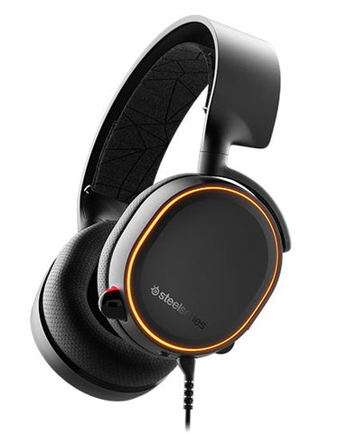 SteelSeries Arctis 5 Wired Gaming Headset (Black, 2019 Edition) - PC Games