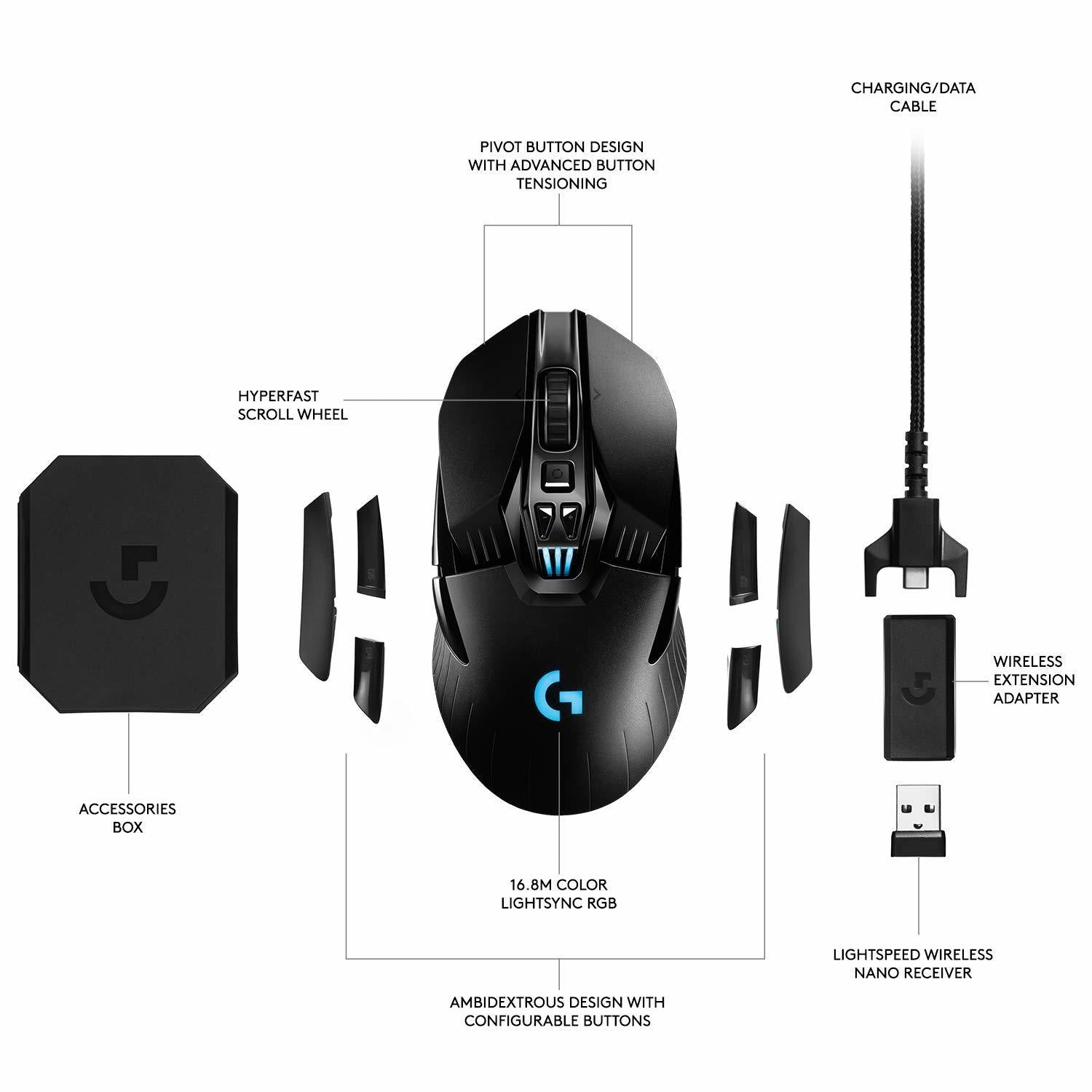 Logitech G903 HERO Lightspeed Wireless Gaming Mouse - PC Games
