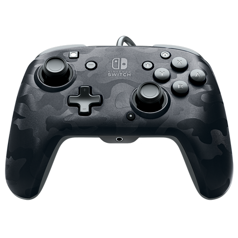 PDP Faceoff Controller Deluxe for Switch - Black Camo - Nintendo Switch
