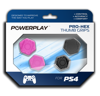 PowerPlay PS4 Pro-Hex Thumb Grips (Pink) - PS4