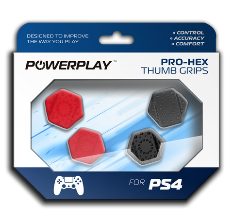 PowerPlay PS4 Pro-Hex Thumb Grips (Red) - PS4