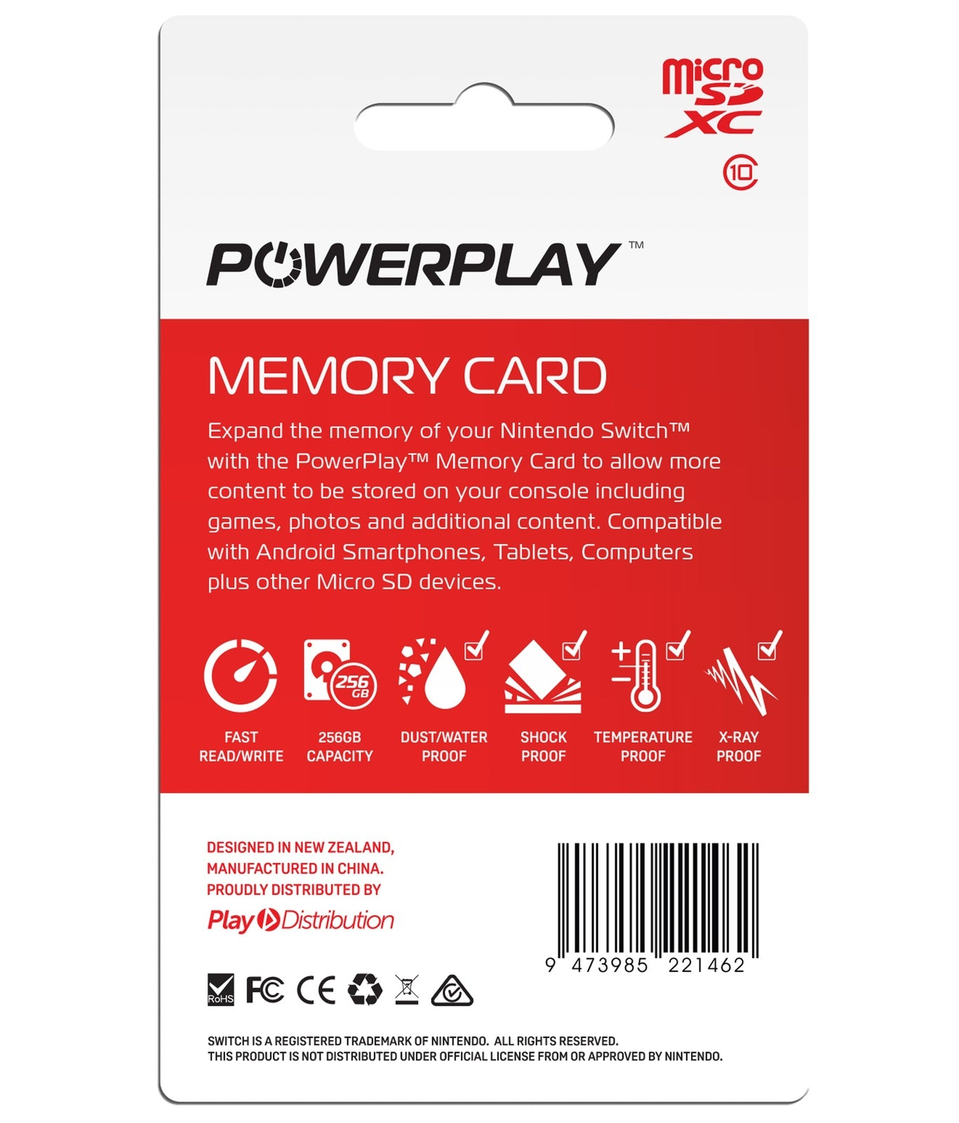 PowerPlay Switch 256GB Memory Card - Nintendo Switch