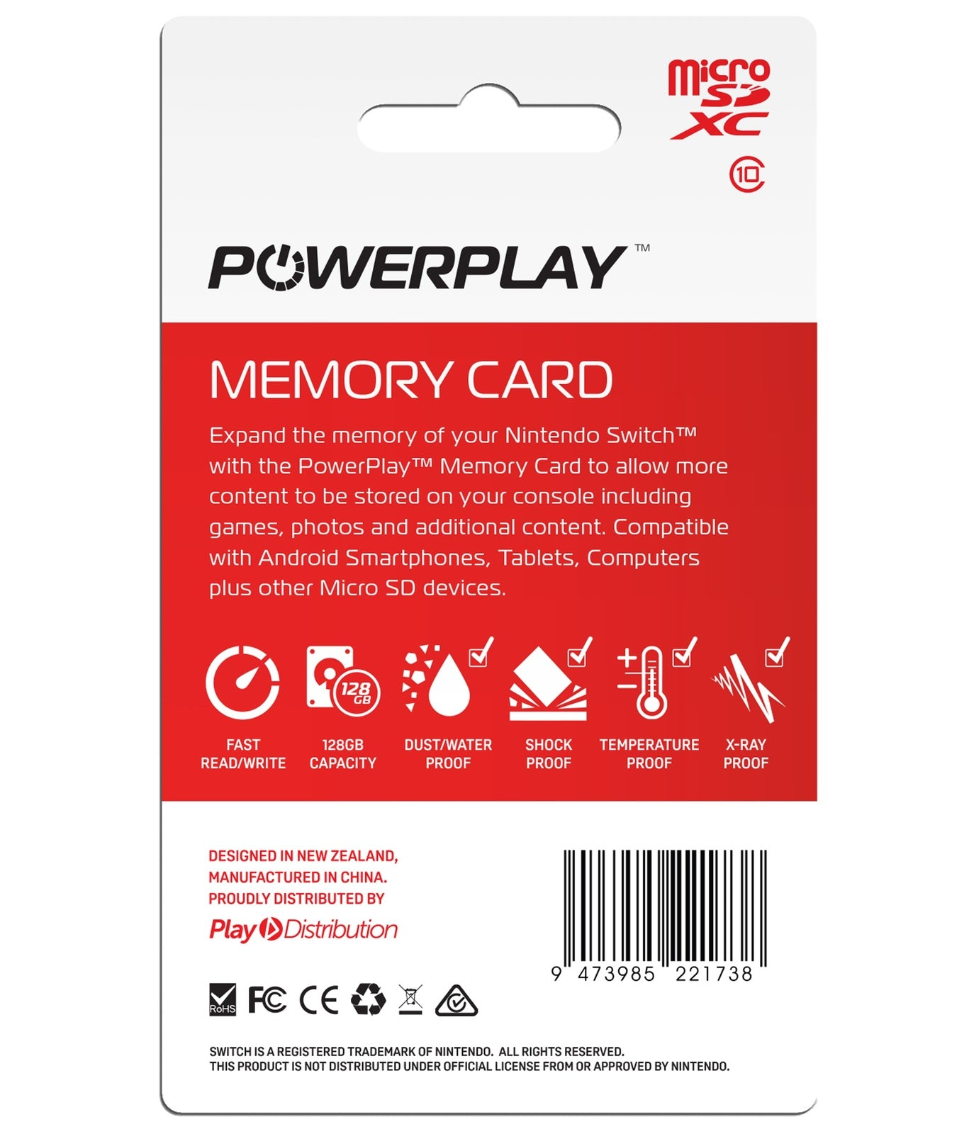 PowerPlay Switch 128GB Memory Card - Nintendo Switch